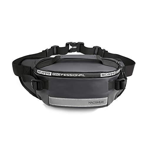FANDARE ウェストバッグ ウエストポーチ メンズ ランニング 防水 大容量 多機能 ナイロン アウトドア ショルダーバッグ 斜めがけ ヒップバッグ バイク 釣り 旅行 仕事 作業用 グレー