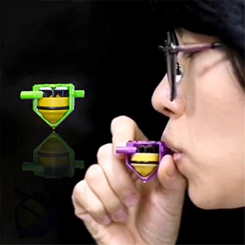 suoryisrty Gyro Toy, Novedad Whistle Gyro Toy, Blowing Rotation Stress Relief Desktop Spinning Top Toys Regalo para niños-1 Pieza