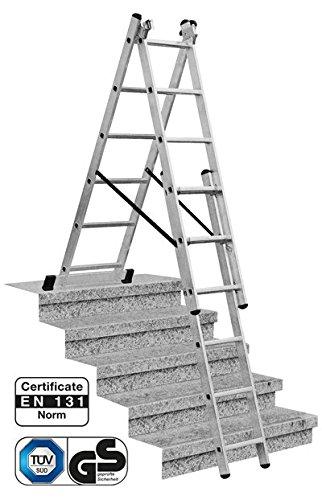 Krause Corda Vielzweck-Leiter 3x9 Sprossen mit Treppenversion