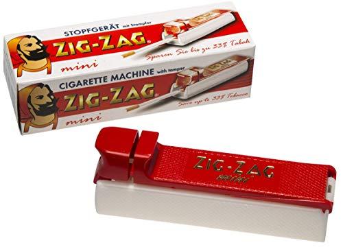 Zigarettenstopfer Zig Zag Mini aus Kunststoff in rot weiss