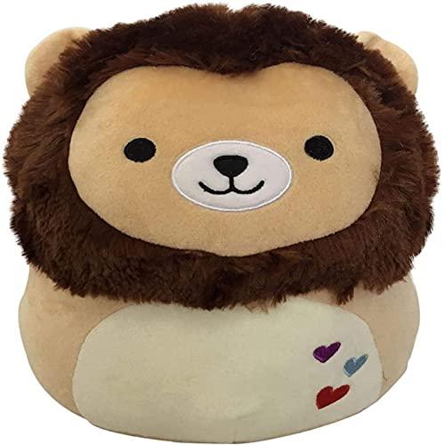 Lindo relleno de felpa con forma de animal de 20 cm, se puede utilizar como almohadas, cojines de espalda, etc. (8 pulgadas / 20 cm) (león marrón, 8 pulgadas / 20 cm)
