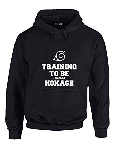 Training to Be The Next Hokage, Hoodie Imprimé - Noir/Blanc M = 96-101 cm