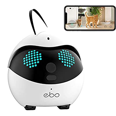 2020 Enabot Ebo Catpal The Smart Robot Companion for Your Cat, Cat Weight Management, Indoor Wired, 24/7 Live Video, 1080p HD, WiFi, 2-Way Talk