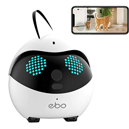 2020 Enabot Ebo Catpal The Smart Robot Companion for Your Cat, Cat Weight Management, Indoor Wired,...