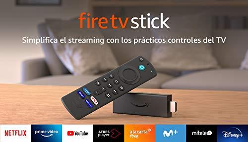 Fire TV Stick con mando por voz Alexa (incluye controles del TV),...
