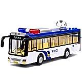 Xolye Lega Police Car Bus Toy Sound And Toy Car Luce del Volante della Polizia Bus Bus Bambini Toy Car Inertia anticaduta Metallo Toy Car