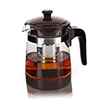 newox teiera in vetro borosilicato con infusore in acciaio inox resistente al calore, per tè e caffè (700 ml)