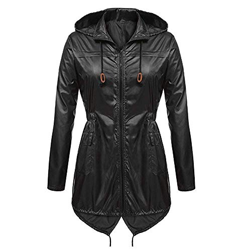 Dames voorjaar zomer mantel comfortabele solide regenjas outdoor jassen met capuchon modieuze completi regenjas winddicht parka coat