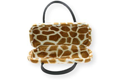 Brillenetui Damen mit samtiger Oberfläche wie Fell – auch innen – 4 verschiedene trendige Designs, Farbe:beige braun Giraffe (012) - 5