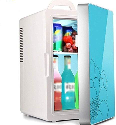 FDSZ Mini refrigerador refrigerador refrigerador, Escritorio móvil Refrigerador Portátil Pequeño refrigerador 16L