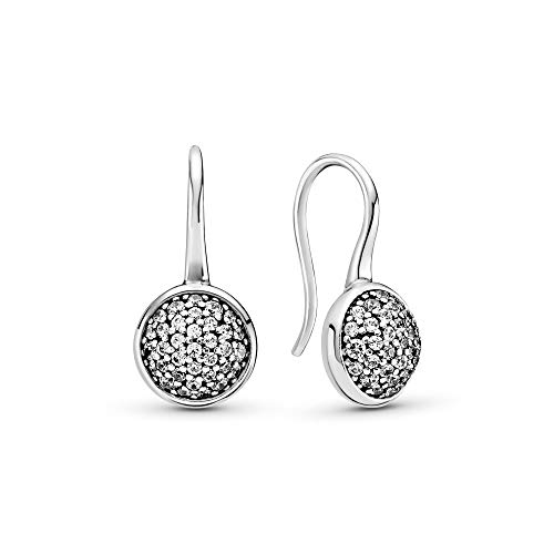 Pandora Jewelry Dazzling Droplets Cubic Zirconia Earrings in Sterling Silver