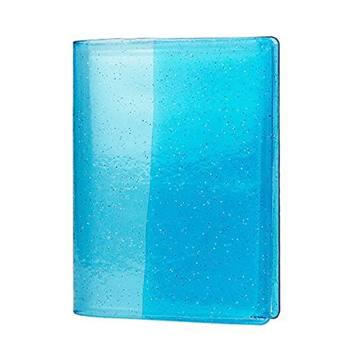 LMNUY Porta Carte Credito 64 capacità Carte Mini Holder Binding Album con Bling Clear Cover per 6 * 9 cm Giochi da Tavolo Carta Multifunction Sleeve Holder Porta Carte di Credito (Color : Blue)