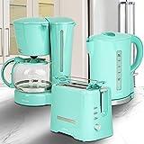 ONVAYA® Juego de desayuno de 3 piezas, máquina de café, tostadora, hervidor de agua, se...