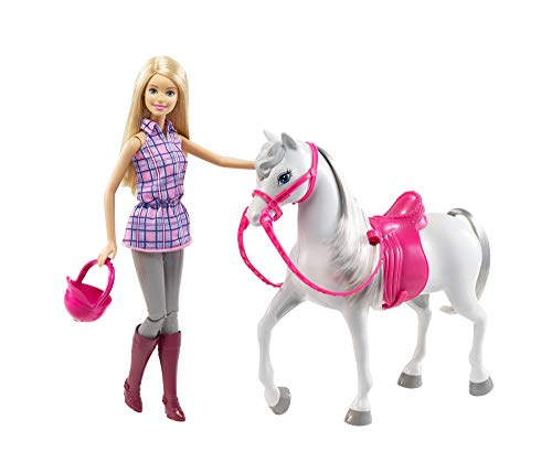 Barbie- Muñeca Y Su Caballo, Multicolor (Mattel DHB68)