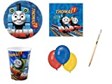 amscan IRPot - Kit N22 Compleanno Trenino Thomas Coordinato TAVOLA Bambino Party Festa