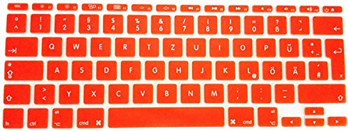 Who-Care Duitse Keyboard Cover Duitsland Taal Fonts Eu Uk 10 X Skin Sticker Film Voor Macbook Voor Air 11 11.6, Groen Meer onesize ORANJE