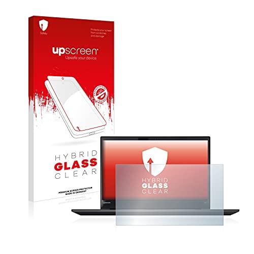 upscreen Hybrid Glass Panzerglas Schutzfolie kompatibel mit Lenovo ThinkPad T570 9H Panzerglas-Folie