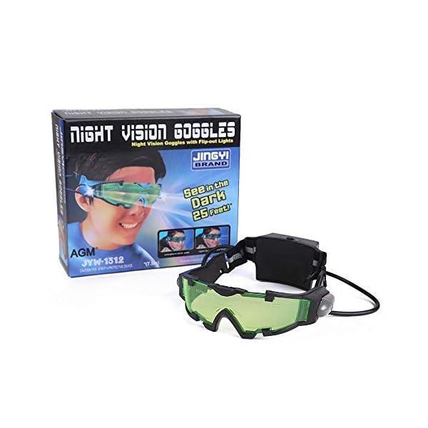 Gearmax® Gafas de Visión Nocturna con Azul Flip-Fuera Llevaron Luces 2