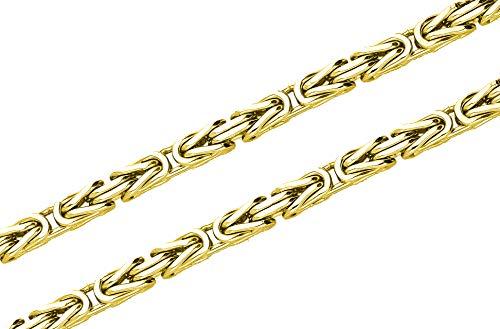 Königskette 925 Sterling Silber 24K vergoldet 55 cm 3,2 mm
