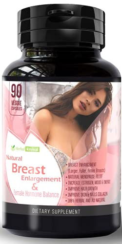 Herbal R Breast Enlargement Pills for Women – Breast Enhancement Pills with Pueraria Mirifica, Promoting Boob Growth, Cup Enlargement & Breast Growth Pills - Pure, No Filler, Non-GMO - 90 Capsules