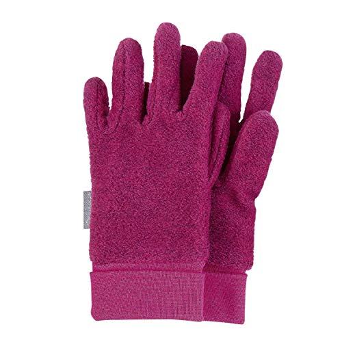 Sterntaler - Mädchen Handschuhe Fingerhandschuhe aus Fleece mit Stulpe, magenta mel. – 4331410, Größe 3