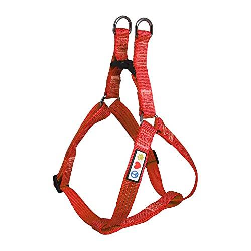 Pawtitas PAWTITAS verstellbares, Reflektierendes Step-in-Softgeschirr für Welpen | Hundegeschirr einstellbar ideal für sportliche Aktivitäten | Extra Klein - Rot Hundegeschirr