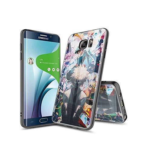 SviXXaYN Samsung Galaxy S6 Edge Funda, Parte Trasera de Cristal Templado + Funda Protectora de TPU de Silicona Suave, Compatible con Samsung Galaxy S6 Edge #005(B)