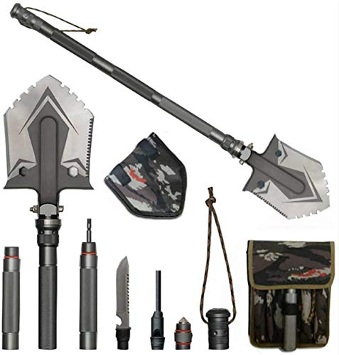 WF WU FANG Folding Shovel Military Camping Shovel Multifunctional Survival...
