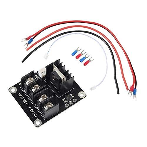 Apricot blossom Stampa 3D MOSFET ad Alta Potenza riscaldata espansione Letto Power Module Mos Tubo da Parti della Stampante Prusa I3 Anet A8 / A6 3D (Color : Black)
