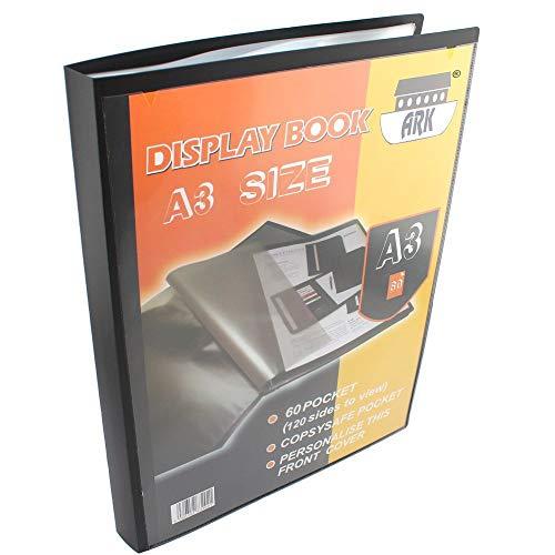 Ark - Porta-listino A3 con 60 buste (120 pagine da visionare)