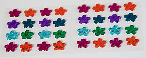 Smoobee Rainbow Flower Beautiful Gem Stickers Adesivi for Customizing The No Cry Hairbrush spazzola per capelli - 32 pieces …
