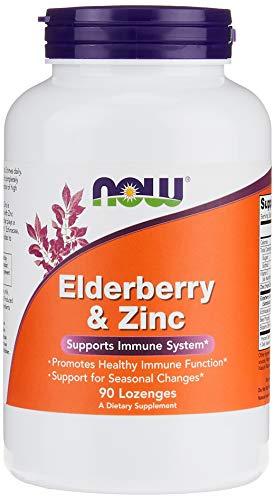 『[海外直送品] ナウフーズ  Elderberry and Zinc Zinc 90 LOZ』