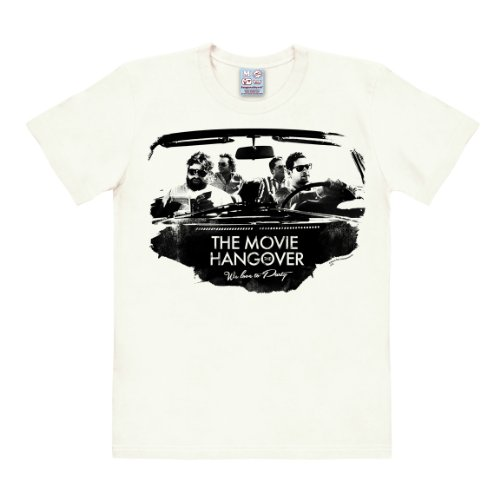 Logoshirt T-Shirt We Love to Party - T-Shirt Hangover - Very Bad Trip - T-Shirt à col Rond de Blanc Antique - Design Original sous Licence, Taille XS