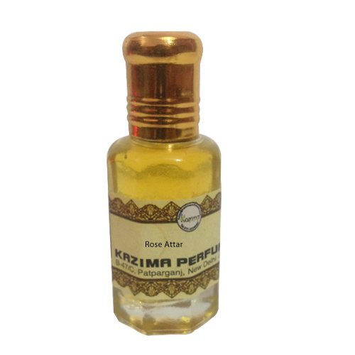 KAZIMA Rose Attar Perfume For Unisex Pure - Pure Natural Undiluted (Non-Alcoholic) (10ml)