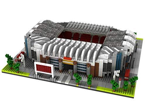 Atomic Building Manchester United Old Trafford Stadion. Modell zum Zusammenbau mit Nanoblöcken. Mehr als 3800 Stück