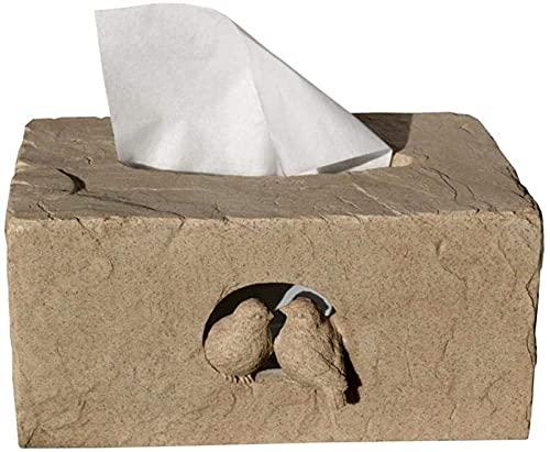 SXCDD Caja de pañuelos Decoración Amor Pájaro Resina Caja de papel Caja de papel Caja de papel Dispensador de