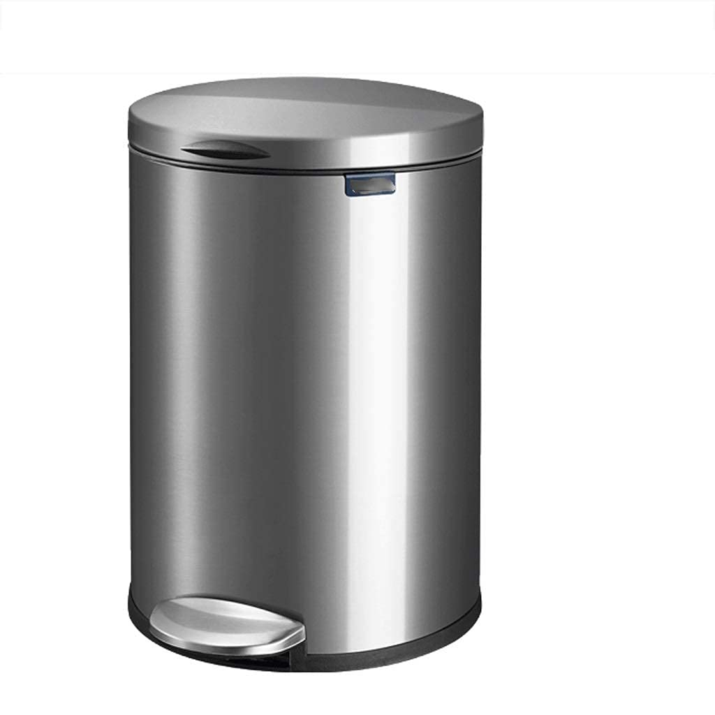 Tedyy Step Super sale period limited Trash Bin with Lid Descending Steel Nashville-Davidson Mall Quiet L Stainless