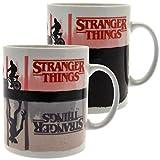 ambrosiana stranger things scmg25280 mug thermo-reactif 315ml / 11oz (upside down) tazza da colazione, 315 milliliters, ceramica, multicolore