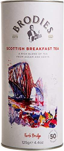 Brodies Tea, Scottish Breakfast Tea, 50 Count Tea Bags (Pack of 2)