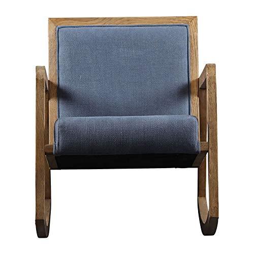 COTE TABLE Lado de Mesa Rocking Chair Lino y Roble 58 x 85 x 71 cm