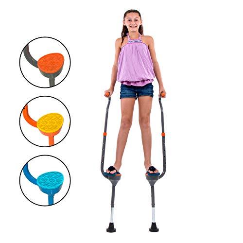 Flybar zancos Caminando Maverick Edades 5 +, Pesos de hasta 190 lbs - Espuma Ajustable maneja con estriberas Postura Amplia