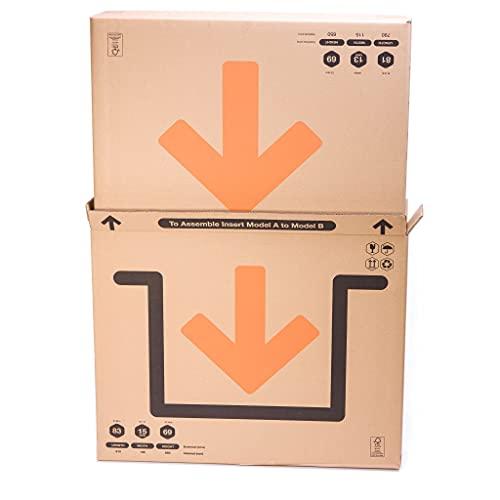TeleCajas | (5X) Cajas para Cuadros, Espejos, Televisor | Medidas: 81x13x130 cms | Doble Solapa y Canal Doble Resistente