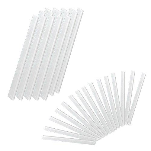 LARS360 Klemmschienen Befestigungsclips für PVC Sichtschutzstreifen Sichtschutzfolie Sichtschutz Klemmstreifen (50 STK, Transparent)