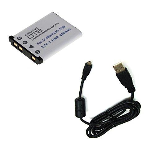 bg-akku24 Akku und Ladekabel, Datenkabel, USB-Kabel für Tevion XS 4000, Tevion Z 1400, Traveler SZ 7, Traveler SZ 8, Traveler XS 400, Traveler XS 4000, Traveler Z 14, Traveler Z 1400