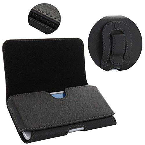 XiRRiX Handy Gürteltasche mit Clip - 1.4 4XL Tasche passend für Huawei Honor 7X / P30 Lite / Y6 2019 / Motorola Moto G7 Plus / E6s / LG K40s / Samsung Galaxy A10 M20 / S10 Plus - Handytasche schwarz