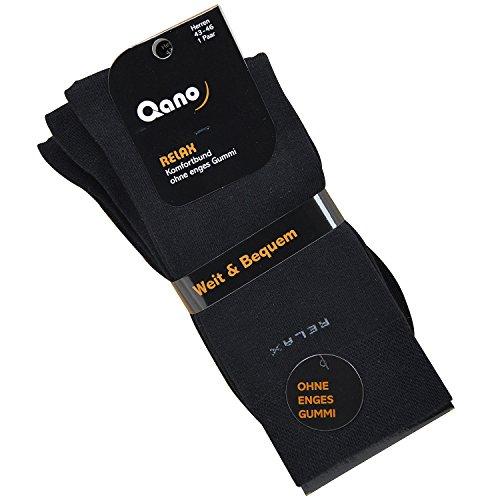 Qano Relax Herrensocken im 3er Pack (47/50, schwarz)