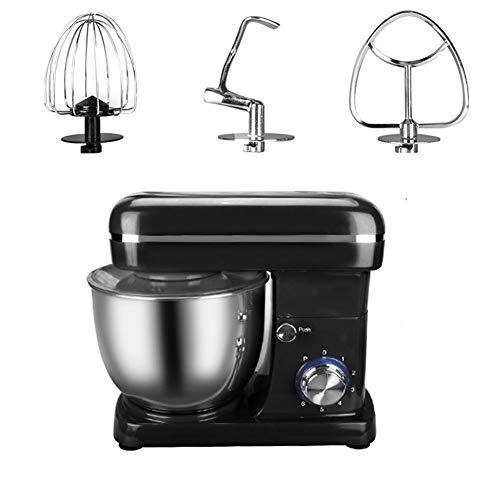 Desktop mixer, 6 Speed, met 5L RVS Bowl, 3 accessoires van roestvrij staal, 360 ° rondom pas voor Kitchen eiroom, voor het kneden deeg of slagroom