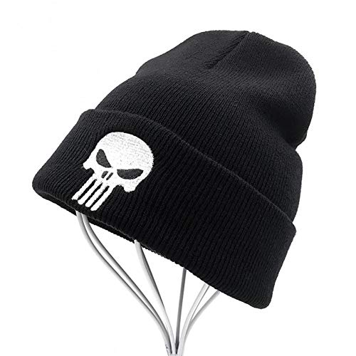 Yooci Beanie Herren Winter The Punisher Cool Black Skulls Winter Warme Mütze Männer...