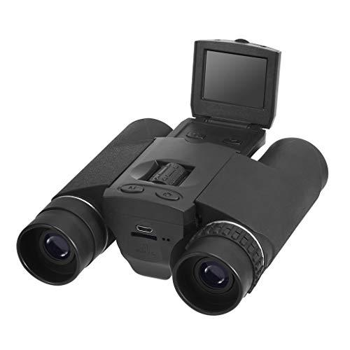 Fugift Al aire libre 10x25 zoom binoculares digitales telescopio pantalla LCD foto video cámara digital USB telescopio para senderismo escalada camping senderismo suministros