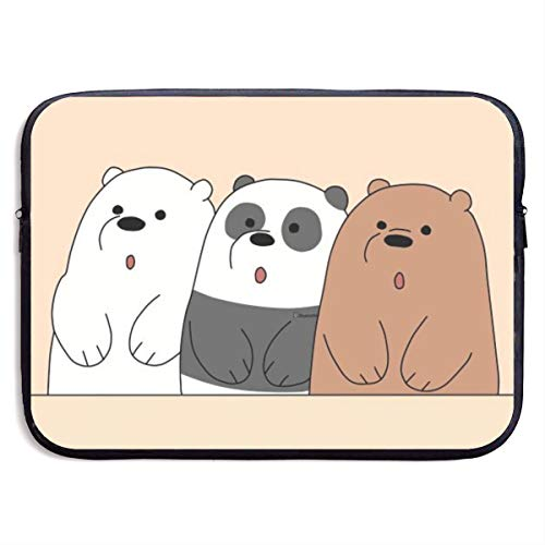 We Bare Bears Laptop Sleeve case 13-15 inch Notebook Computer Bag Protective Case Cover for MacBook Pro/MacBook Air